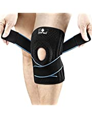 NEENCA Knee Brace with Side Stabilizers & Patella Gel Pads, Adjustable Compression Knee Support Braces for Knee Pain, Meniscus Tear,ACL,MCL,Arthritis, Joint Pain Relief,Injury Recovery-4 Sizes. ACE-54