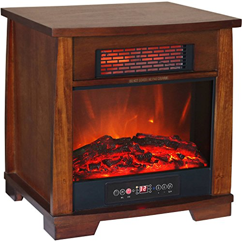 Heat Wave Compact Glow Infrared Quartz Heater Flame Effect with Remote Control