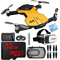Wingsland S6 Quadcopter Yellow Mini Pocket Drone 4K Camera 32GB VR Kit