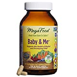 MegaFood - Baby & Me, Prenatal & Postnatal Support for Mother & Baby with Folate, 120 Tablets (FFP)