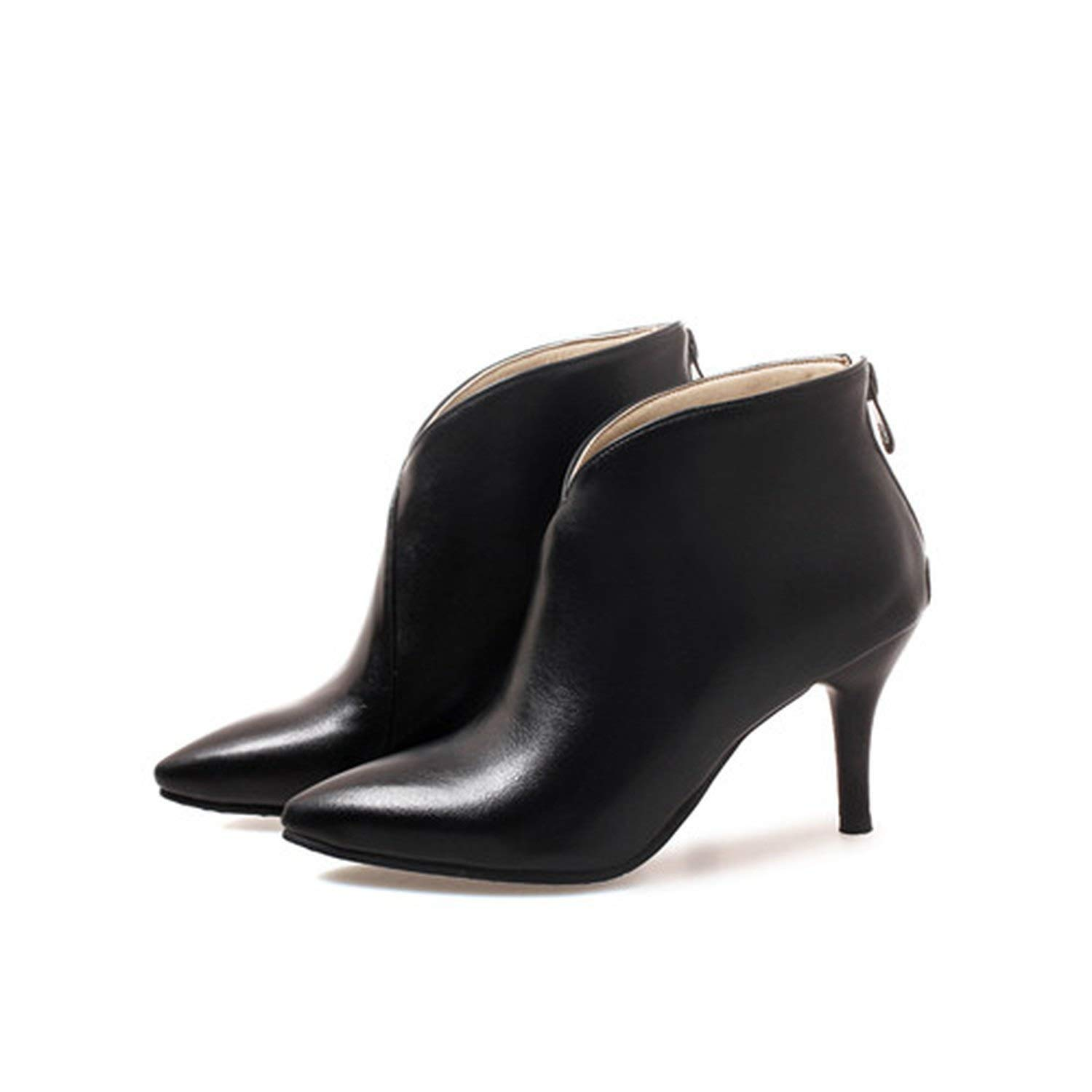 2 Large Size Women Boots Pointed Toe High Heels Women's shoes Sexy Autumn Winter Ankle Boots