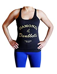 Diamonds and Dumbbells Tank Top - Comfortable racerback to wear at Gym, Yoga, workout and crossfit