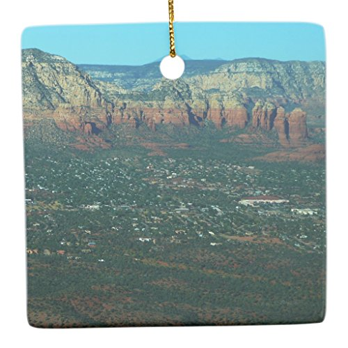 Zazzle Sedona and Coffee Pot Rock From Above Ceramic Ornament - Server Sedona