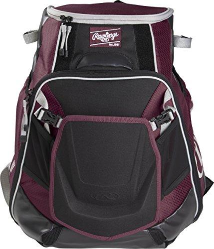 Rawlings Velo Baseball/Softball Backpack, Maroon