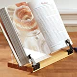 Deluxe Cookbook Holder with Wooden Base