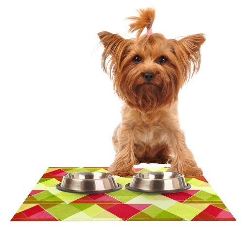 Kess InHouse Catherine McDonald Palm Beach  Feeding Mat for Pet Bowl, 18 by 13-Inch
