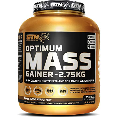 Gold Tech Nutrition Optimum Mass Gainer Protein Powder High Calorie Mass Gainer with Vitamins, Creatine Monohydrate and…