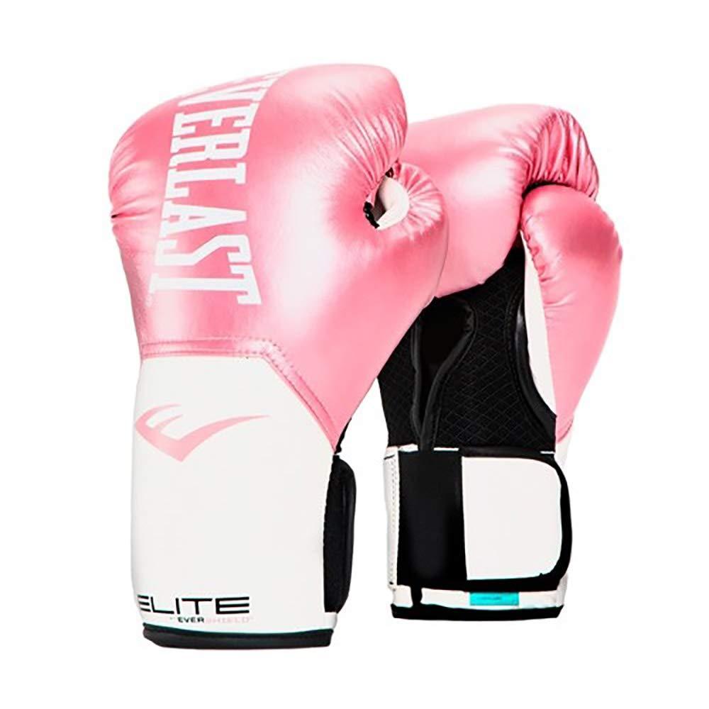 Everlast Elite Pro Style Training Gloves, Pink/White, 12 oz