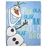 Disney Frozen Childrens/Kids Olaf Fleece Blanket/Throw (48in x 60in) (Blue)