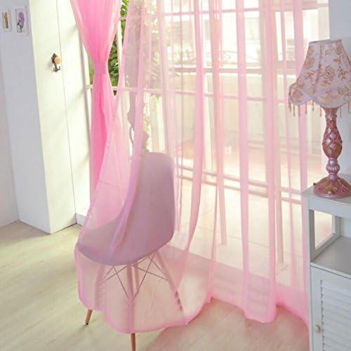 1//2Pcs Pure Color Tulle Door Window Curtain Drape Panel Sheer Scarf Valances New
