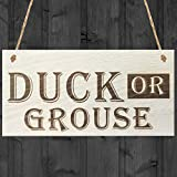 Red Ocean Duck Or Grouse Novelty Wooden Hanging Plaque Gift Garden House Door Sign by Red Ocean