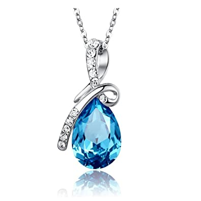 1fca0786ad2b56 Très beau collier femme SWAROVSKI ELEMENTS-COLLIER CRISTAL GOUTTE D EAU- Ce  bijoux