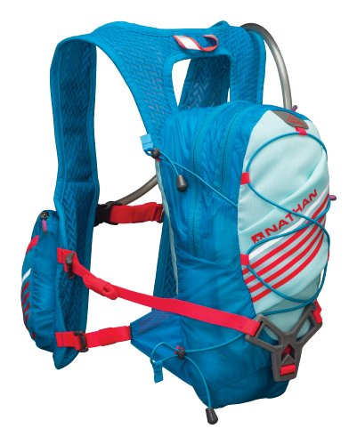Nathan Zeal 2-Liter Hydration Vest, Light Blue/Danube Blue, One Size by Nathan