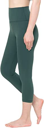Fantasfit High Waist Yoga Leggings for Women w Band Pocket Squat Proof Workout Pants Tummy Control 4 Way Stretch