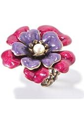 Sweet Romance Camellia Enamel Flower Ring