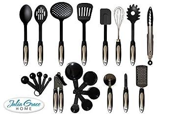 22 Piece Kitchen Utensils Set From Julia Grace Kitchen   Home Cooking Tools  U0026 Gadgets  