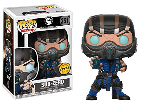 Funko Pop! Games: Mortal Kombat - Sub-Zero CHASE Limited Edition Vinyl Figure (Bundled with Pop BOX PROTECTOR CASE) ()