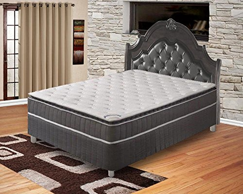 Spinal Solution Mattress,Pillow Top ,Pocketed Coil, Orthopedic Queen Size Mattress with 5-Inch Split Box Spring , Acura Collection by Spinal Solution