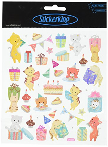 Tattoo King Kitty Party Stickers, Multicolor