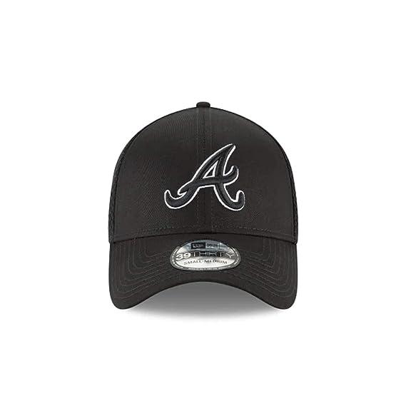 New Era Authentic Atlanta Braves Black Neo 39THIRTY Flex Hat