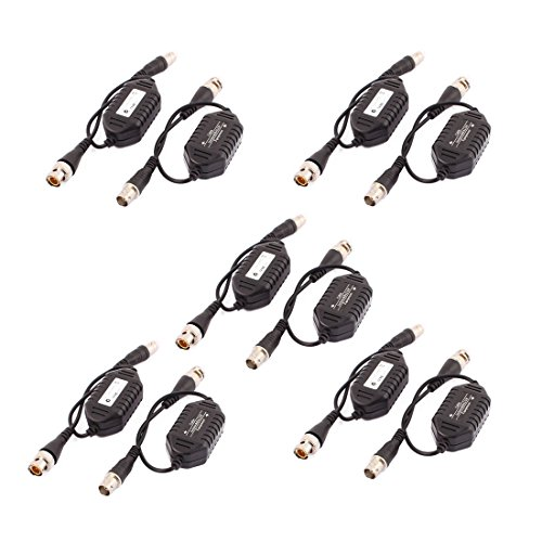 - uxcell 10 Pcs Coaxial Video Ground Loop Isolator Balun BNC Male to Female for CCTV Camera