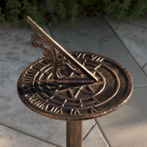 Reyes Cast Aluminum Copper Sun (Cast Aluminum Sundial)