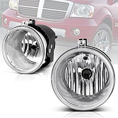Fog Lights Compatible with Chrysler 300 Touring 05-09 Aspen 05-09 Dodge Dakota 05-09 Durango 07-09 Jeep Commander 06-10 Grand Cherokee 04-10 Mitsubishi Raider 06-08 (Clear Lens w/ H10 12V 42W Bulbs): Automotive