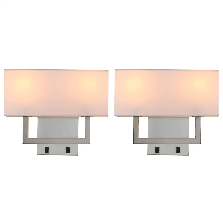 Yosoan Wandlampe Stoffschirme Wandleuchte Einfache Moderne Mode Kreative Wandleuchte mit Stoffschirme 2 St/ücke Schwarz Farbe