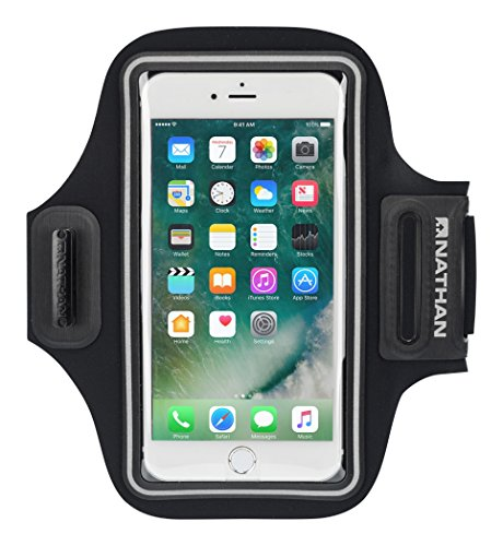 Nathan NS4947 Stridesport Smart Phone Arm Carrier, Black, One Size