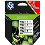 HP 932XL Black/933XL Cyan/Magenta/Yellow 4-pack Original Ink Cartridges (C2P42AE)