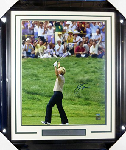 - Jack Nicklaus Autographed Framed 16x20 Photo 1970 Masters Steiner