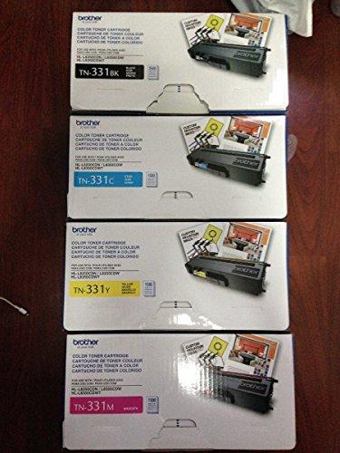 4 Color Toner Set (ResellerTN331 4-Color Toner Cartridge Set (Includes TN331BK, TN331C, TN331M, TN331Y)
