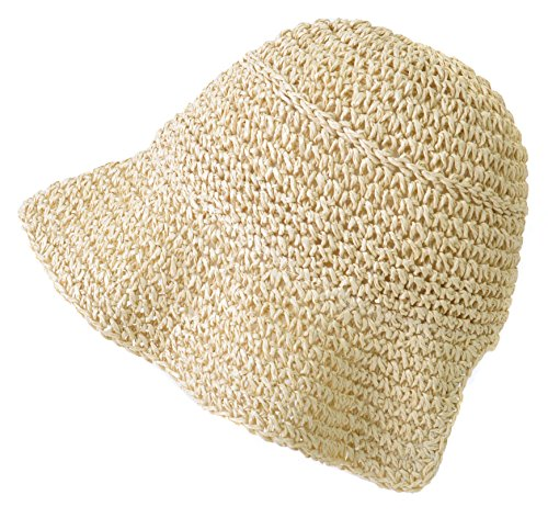 Ivory Paper Recycled (Casualbox | Recycled Straw Paper Hat UV Protection Environmentally Friendly Eco Savvy Clever Ivory)