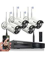 【Dual Antennas Wifi Enhanced】2K 3.0MP Wireless NVR Security Camera System Outdoor without Hard Drive,Wireless CCTV Video Surveillance Wifi Cameras Systems With DVR, 4Pcs Home Waterproof Wireless IP Cameras with Audio