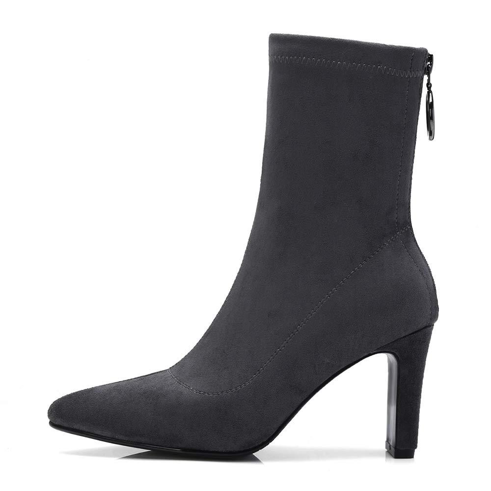 HEETIST HEH01, Damen Stiefel & Stiefeletten, Grau grau - grau Grau - Größe: EU 37 - 121398