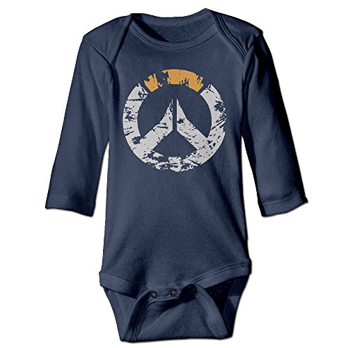 Price comparison product image Overwatch New Gaming 2016 Long Sleeve Unisex Baby Onesies Baby Shower Gift Navy 100% Cotton