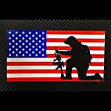 america flag sticker - American Flag Soldier Kneeling Sticker Custom Vinyl USA Merica United States Marines Army Navy Airforce RED WHITE BLUE