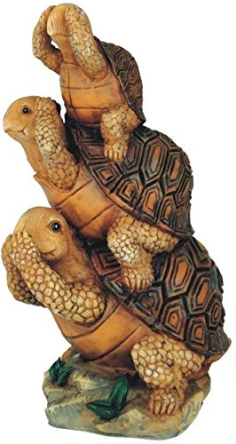 George S. Chen Imports SS-G-61056 Turtle Hear See Speak No Evil Collectible Garden Decoration (Garden Figurine)