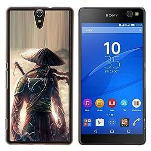 For Sony Xperia C5 Ultra Case , Guerrero samurai japonés Eclipse- Diseño Patrón Teléfono Caso Cubierta Case Bumper Duro Protección Case Cover Funda
