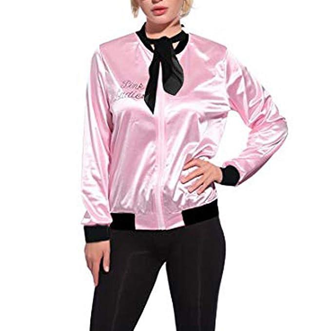 MEIbax Moda mujer abrigos y tops calientes Mujeres Retro 1950s Pink Ladies Print Traje de Lunares Bufanda Conjunto Abrigo Chaqueta: Amazon.es: Ropa y ...