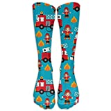 truck accessories balls - Casual Comfortable Over The Knee High Long Socks Fire Truck and Hero Boys Car Foot Anti Fatigue Varicose Veins Supports Cycling Football Slim Leg Travel Nursing. Outdoor Sports Running Tube Stockings