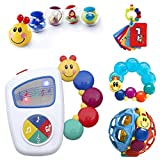 Baby Einstein 9-Piece Essentials Bundle - Take Along Tunes, Shake & Teethe, Caterpillar Rattle and Teethe, Bendy Ball and Roller-Pillar Activity Balls