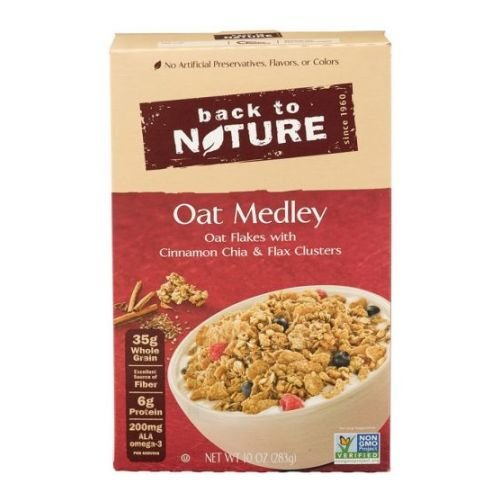 Back to Nature Oat Medley with Cinnamon Clusters Cereal, 10 Ounce - 6 per case. by Back to Nature (Image #1)