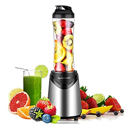 La Reveuse Personal Blender for Shakes and Smoothies-with 18 oz BPA Free Portable Travel Sports Bottle - Leak Proof Lid-Dishwasher Safe