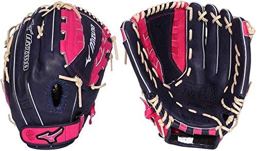 (Mizuno GMVP1300PSEF4 MVP Prime SE Gloves, Navy/Pink, Right Hand Throw)