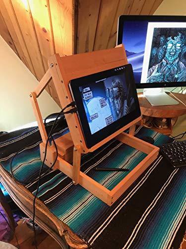 adjustable wood laptop stand