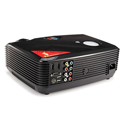 C&C Products PH5 1080P HD 3D LED Projector 2500LM VGA AV TV HDMI USB Inputs Home Theater by C & C