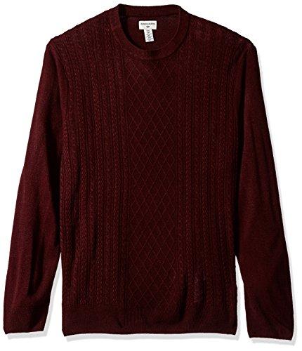 Dockers Men's Soft Acrylic Crewneck Sweater, Burgundy, XX-Large -