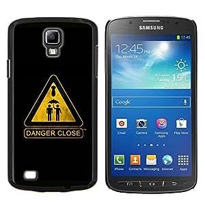 LECELL--Funda protectora / Cubierta / Piel For Samsung Galaxy S4 Active i9295 -- Señal de advertencia --