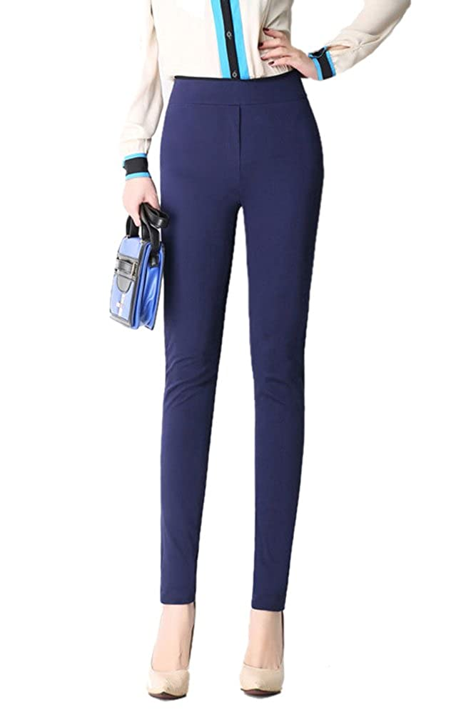 SK Studio Women's Slim Fit Stretch Skinny Pants Deep Blue 8 SK-FWY1500-4-30